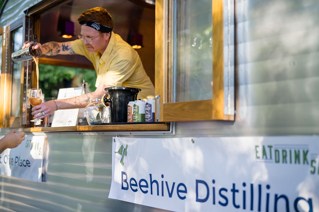 Post Office Place cocktails featuring Beehive Distilling